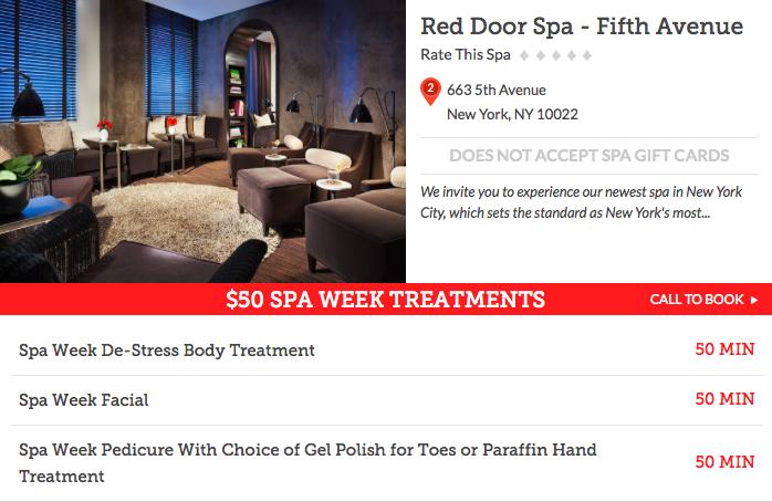 Red Door Spa- Fifth Avenue